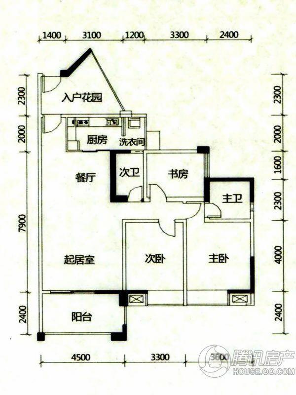 > 中玮海润广场户型图