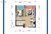 保利锦江里1室1厅1卫50平方米户型图