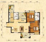 福庆花雨树3室2厅2卫109平方米户型图