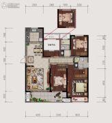 仙居新城吾悦广场4室2厅2卫138平方米户型图