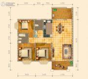 皇家花园壹号3室2厅2卫122平方米户型图
