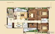 常青藤4室2厅2卫136平方米户型图