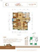 新湖・玫瑰园3室2厅2卫106--107平方米户型图