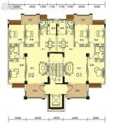 香槟公馆3室2厅2卫131--133平方米户型图