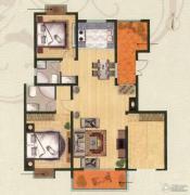 金轮星城3室2厅2卫137平方米户型图