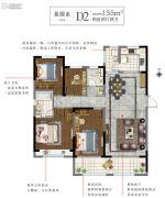 白塘壹号4室2厅2卫155平方米户型图
