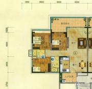 珠光流溪御景3室2厅2卫111平方米户型图
