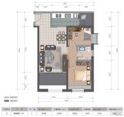 医大广场2室2厅1卫79平方米户型图