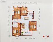 百丰花园4室4厅4卫145平方米户型图