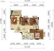 叠翠轩3室2厅2卫111--112平方米户型图