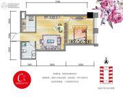安通・缘梦天地1室1厅1卫52平方米户型图