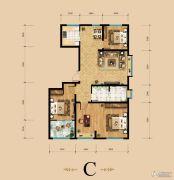 东岳国际4室2厅2卫136平方米户型图