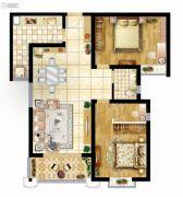 曲江龙邸2室2厅1卫99平方米户型图