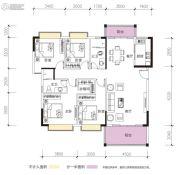 凯景华府4室2厅2卫138平方米户型图