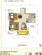 好美华庭2室2厅1卫93--97平方米户型图