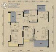 保利国际城翡丽湾2室2厅2卫135平方米户型图