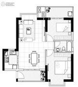 聚镇2室2厅1卫85平方米户型图