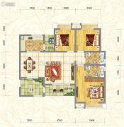 世俊国际3室2厅2卫113平方米户型图