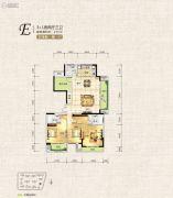 中天栖溪里3室2厅3卫155平方米户型图
