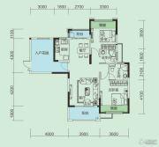 大洋五洲2室2厅2卫102平方米户型图