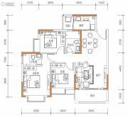 保华铂郡3室2厅2卫95平方米户型图