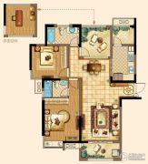 深业华府2室2厅2卫122平方米户型图