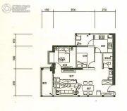 东旭骏城2室2厅1卫74平方米户型图