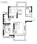 保利鑫城3室2厅1卫122平方米户型图