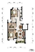 香河湾3室2厅1卫87平方米户型图
