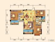 名都东方国际3室2厅2卫117--118平方米户型图
