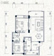 誉城国际2室2厅1卫86平方米户型图
