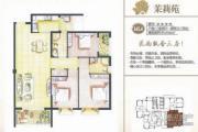 国福现代城3室2厅2卫120平方米户型图