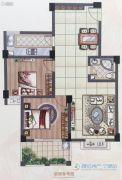 怡和嘉园二期2室2厅1卫85平方米户型图