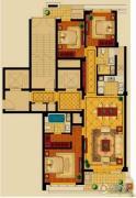 新华园3室2厅2卫147平方米户型图