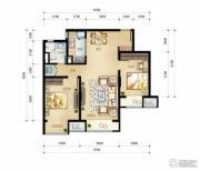 万科金域缇香2室2厅1卫91平方米户型图