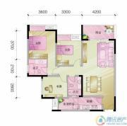 中亿阳明山水3室2厅2卫94平方米户型图