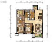 中海和平之门3室2厅2卫110平方米户型图