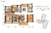 伦教碧桂园4室2厅2卫123平方米户型图