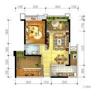 宏创・龙湾半岛2室2厅1卫72平方米户型图