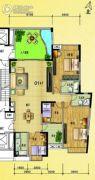 水岸花城4室2厅2卫182平方米户型图