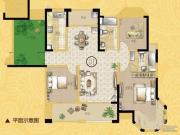 海门中南世纪锦城4室2厅2卫0平方米户型图