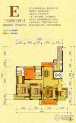 万达广场3室2厅2卫160平方米户型图