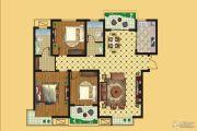 壹号公园3室2厅2卫137平方米户型图