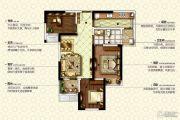 康桥九溪郡3室2厅1卫88平方米户型图
