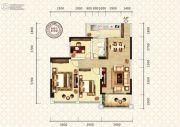 万昌东方巴黎2室2厅1卫96平方米户型图