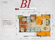 国奥村3室2厅3卫114平方米户型图