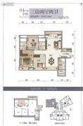 龙溪新城3室2厅2卫101平方米户型图