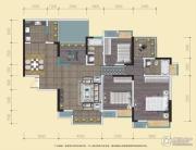 中渝山顶道国宾城3室2厅2卫117平方米户型图