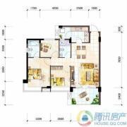 雅居乐十里花巷2室2厅2卫94平方米户型图