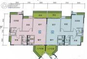 南华时代城3室2厅2卫107平方米户型图
